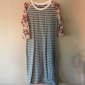 Ampersand striped and flower dress